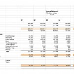 Year-1 income statement of pro forma