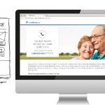 Digital landing page to improve caregiver access to service