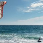Kitesurfing at the coastline - SFkitesurf.com